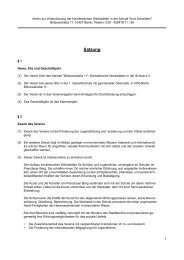 Satzung - Förderverein der Kurt-Schwitters-Schule Berlin