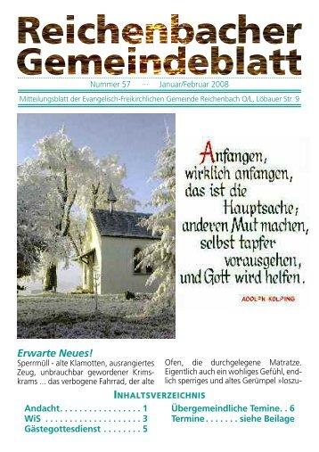 Nr. 57 Januar/Februar 08 - bei der EFG Reichenbach