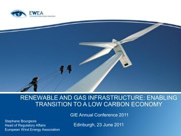 enabling transition to a low carbon economy - GIE