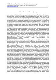 Zusammenfassung - Prof. Dr. Kornelia Rappe-Giesecke
