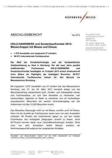 Download Abschlussbericht 2012 - Holz-Handwerk