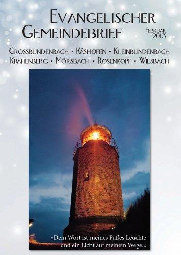 Evangelischer Gemeindebrief Februar - Kirchengemeinde Wiesbach