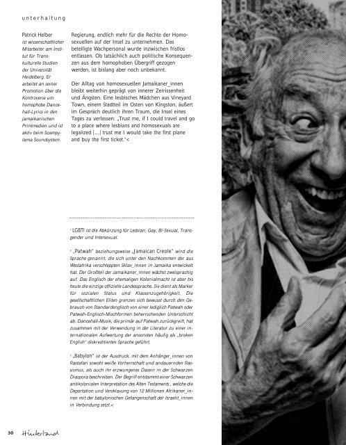 in der Kritik - Hinterland Magazin