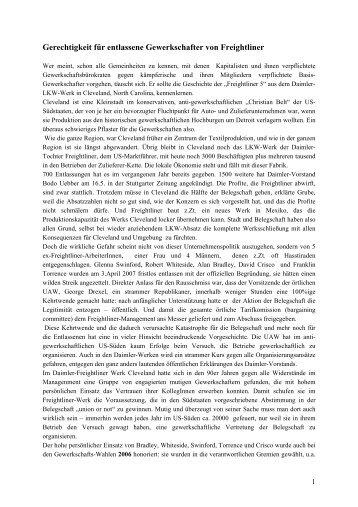 Union Busting bei Daimler USA - TIE Germany