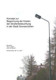 Konzept zur Begrenzung der Kosten der Straßenbeleuchtung in der ...