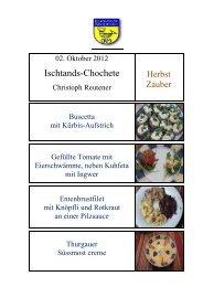 HERBST-ZAUBER -- Einstands-Chochete von Christoph Reutener