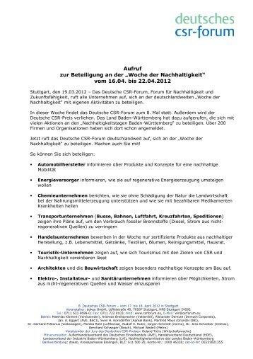 Aufruf wdn 2012-03-18 - Deutsches CSR-Forum