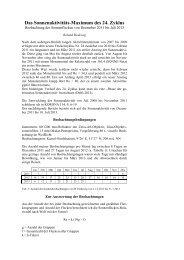 Das Sonnenaktivitäts-Maximum des 24. Zyklus - Sternwarte Calden ...