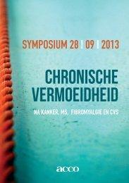 Chronische vermoeidheid - Vermoeidheidcentrum Lelystad