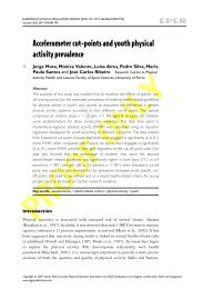 Accelerometer cut-points and youth physical activity prevalence