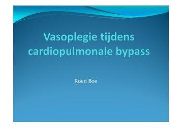 Vasoplegie tijdens cardiopulmonale bypass - UZ Leuven
