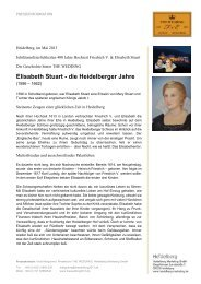 Elisabeth Stuart - Heidelberg Marketing GmbH