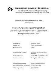 TECHNISCHE UNIVERSITÄT ILMENAU - Klinik für Strahlentherapie ...