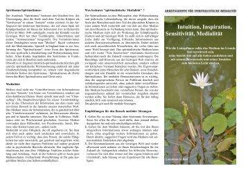 Informationen über Sensitivität und Medialität - Fachschule für ...