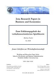 Jena Research Papers in Business and Economics - WiWi Fakultät ...