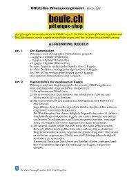 Offizielles Pétanquereglement Quelle SAP - Boule.ch