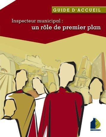 Guide d'accueil - Inspecteur municipal : un rôle de premier plan