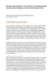 Familiäres Liechtenstein - Regierung des Fürstentums Liechtenstein