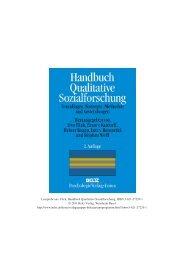 Handbuch Qualitative Sozialforschung