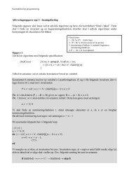 Opgaver til formelle teknikker, lektion 2
