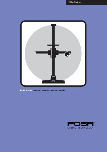 Prospekt FOBA Stativprogramm - Slach