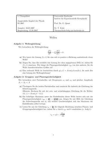 Blatt - Institut für Experimentelle Kernphysik