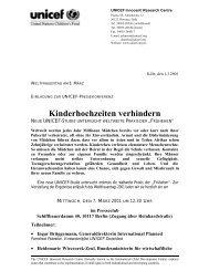 Kinderhochzeiten verhindern - Innocenti Research Centre