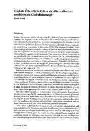 Globale Öffentliche Güter als Alternative zur ... - BEIGEWUM