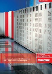 Brandschutzlösungen für Informations - Minimax
