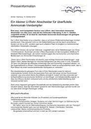 Presseinformation Ein kleiner U-Rohr Abscheider für ... - Alfa Laval