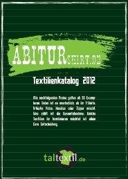 Textilienkatalog 2012 - abiturshirt.de