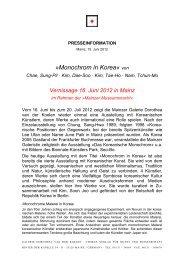 PR-Info KorMon_16.6.2012 - Galerie Dorothea van der Koelen
