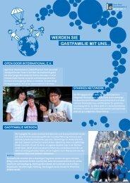 Flyer Gastfamilie Werden - Open Door International eV
