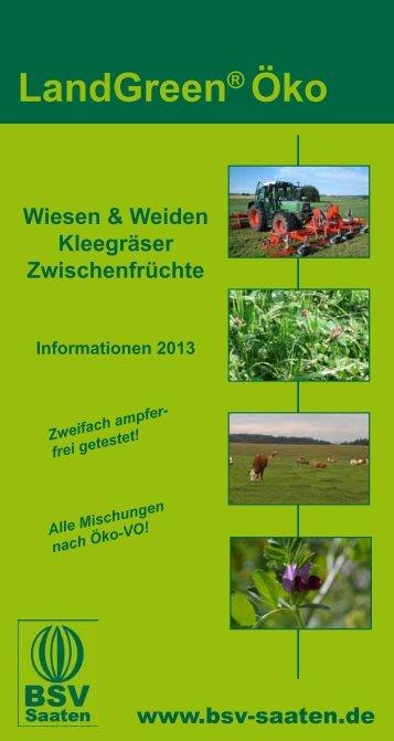 Ökokatalog 2013 - Bayerische Futtersaatbau GmbH