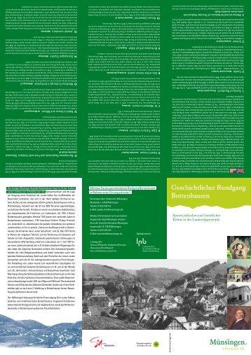 Geschichtlicher Rundgang Buttenhausen - in der Stadt Münsingen