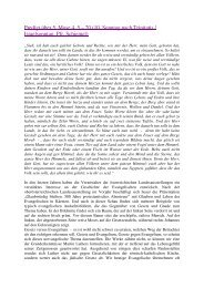 Predigt über 5. Mose 4, 5 – 20 (10. Sonntag nach Trinitatis ...