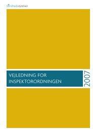 Vejledning for Inspektorordningen, 2007 - Sundhedsstyrelsen