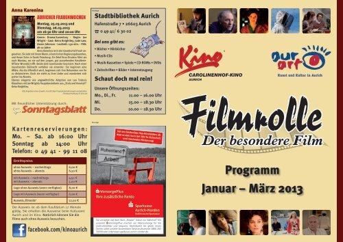 Programm Januar – März 2013 - Stadt Aurich