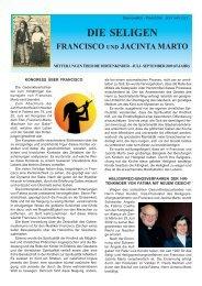 DIE SELIGEN - Postulação de Francisco e Jacinta Marto