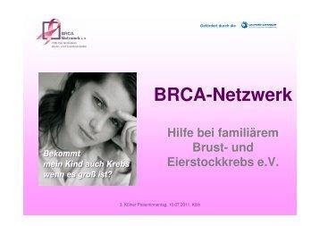 BRCA-Netzwerk Hilfe bei familiärem Brust- und Eierstockkrebs e.V.