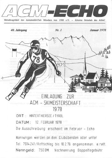 echo-1978-01 - ACM Automobilclub München von 1903 e. V.