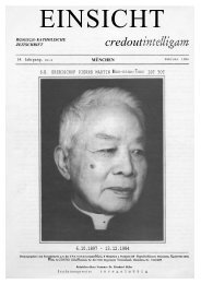 14. Jahrgang, Heft 6 (Februar 1985) - Catholicapedia