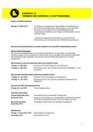 EUROPAN 12 TERMINE DES EUROPAN 12-WETTBEWERBS