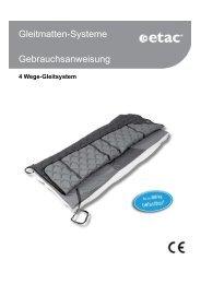 Gleitmatten-Systeme Gebrauchsanweisung - Etac