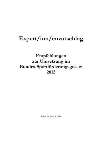 ExpertInnenvorschlag - Sportministerium