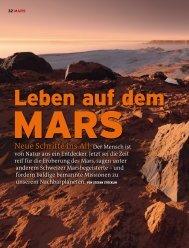 Neue Schritte ins All:Der Mensch ist - Mars Society Switzerland