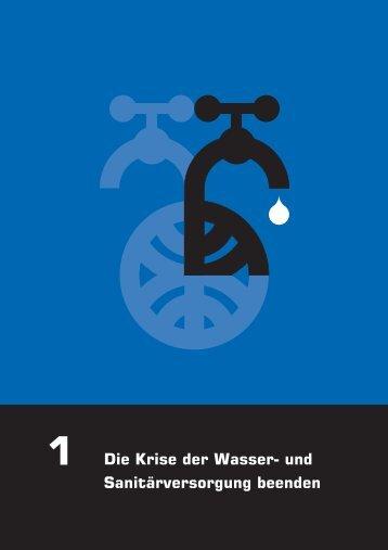 1 Die Krise der Wasser- und Sanitärversorgung beenden