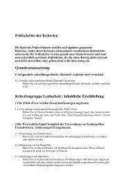 Prüfschritte der Kriterien zum BIENE-Award 2005