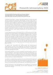 Presseinfo Jahresempfang 2009 - AIDS-Hilfe NRW e.V.