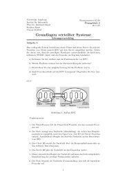 Grundlagen verteilter Systeme - Institut für Informatik - Universität ...